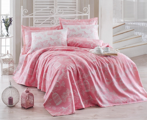 Постельный набор EPONJ HOME cotton Пике  SAMYELI PEMBE