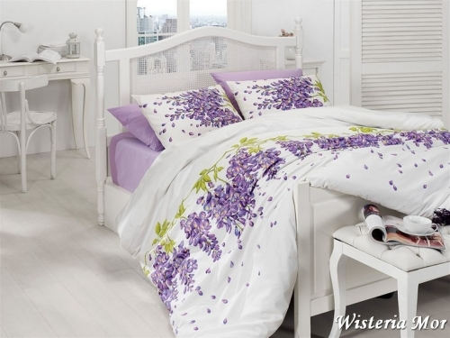 Постельный комплект First Choice Ranforce Wisteria Lila (Mor)